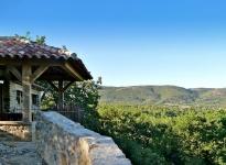 Vue incomparable d'une des 3 terrasses de la villa Alésia.