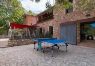 Grande terrasse extérieure + table de ping pong